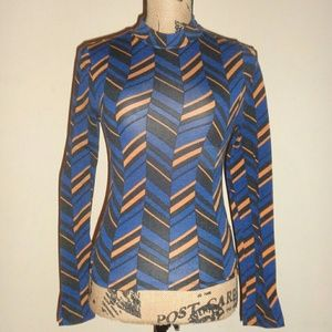 Forever 21 Blue Tribal Print